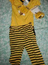 Nwt Nursery Rhyme bumble bee top legging sock set baby girl 3 m free ship USA