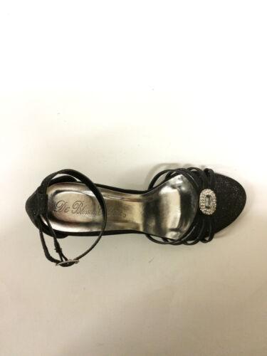 Black Trip-133 De Blossom Women/'s Buckle Latch Heels