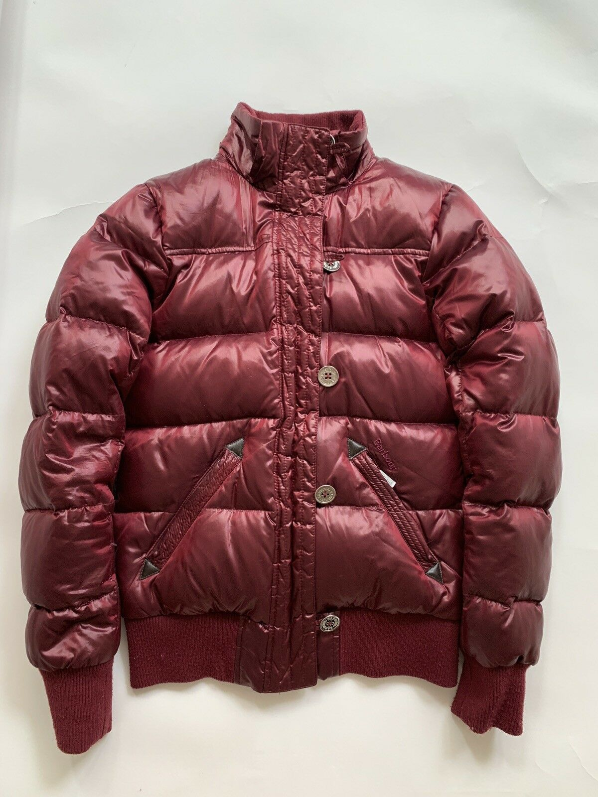 Barbour Heritage Mercury Down Puffer Bomber Red - image 4