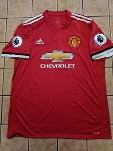 quality design 4ae37 ae624 Details about Alexis Sanchez Manchester United 17/18 Home Shirt Adidas  Replica Jersey sz XL