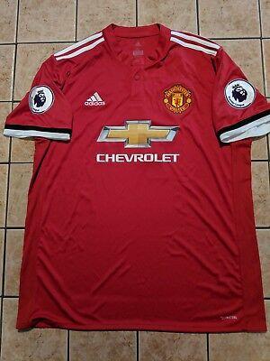 new styles 60c05 5538f Alexis Sanchez Manchester United 17/18 Home Shirt Adidas Replica Jersey sz  XL   eBay