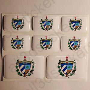 Pegatinas-Cuba-Escudo-de-Armas-Pegatina-Vinilo-Adhesivo-Resina-3D-Relieve-Coche