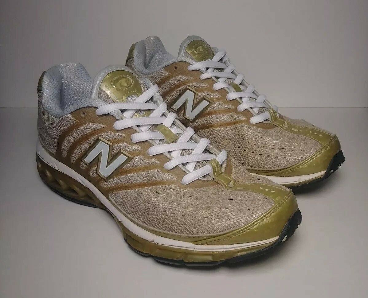 New Balance 8507 Zip Running Low-Top shoes, Lt Brown & gold ,Women's Size 7