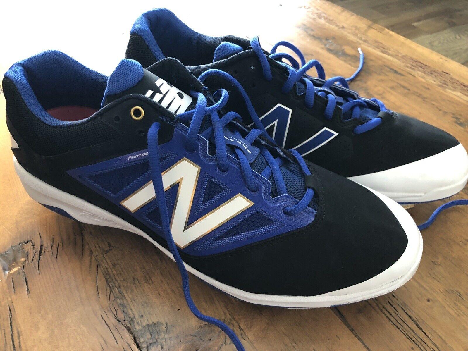 Nuevo Rev Lite RC New Balance Botines de béisbol para hombre Talla 13 Negro Azul Y blancoa