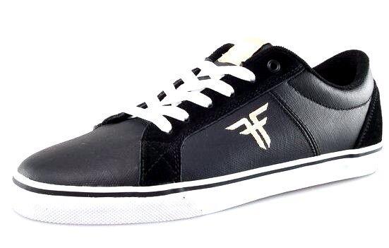 993c7869 FALLEN 41070083/BKKH GRIFFIN Mn's (M) Black/Khaki Leather Skate Shoes