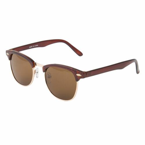 Polarized New Sunglasses Men/'s Womens Vintage Designer Metal Half Frame X