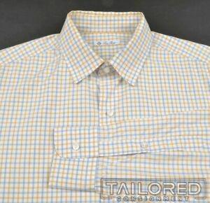 LORO-PIANA-White-Colorful-Check-100-Cotton-Mens-Luxury-Dress-Shirt-16