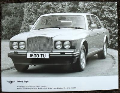 Bentley Acht 1800 Tu Presse Foto Schwarz & Weiß Undatiert Geschickte Herstellung