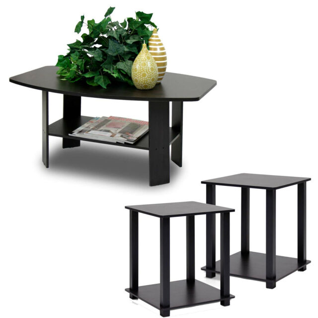 Pleasing Coffee Table And 2 End Tables Side 3 Piece Set Modern Furniture Living Room Wood Short Links Chair Design For Home Short Linksinfo