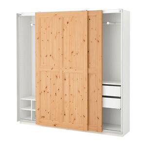 Ikea pax kleiderschrank schiebetüren  Schiebetürpaar HURDAL 200x236 cm Schiebetüren für PAX ...