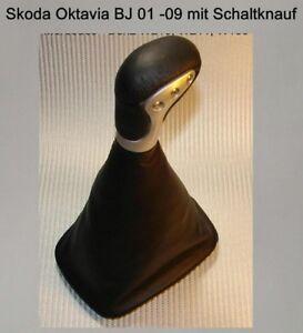 Skoda-Oktavia-1u-cuero-genuino-palanca-de-cambio-color-conmutacion-circuito-saco-manguito