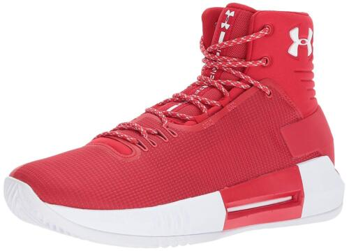 Mens Under Armour UA Drive 4 TB Basketball Shoes Red White 1303010 605