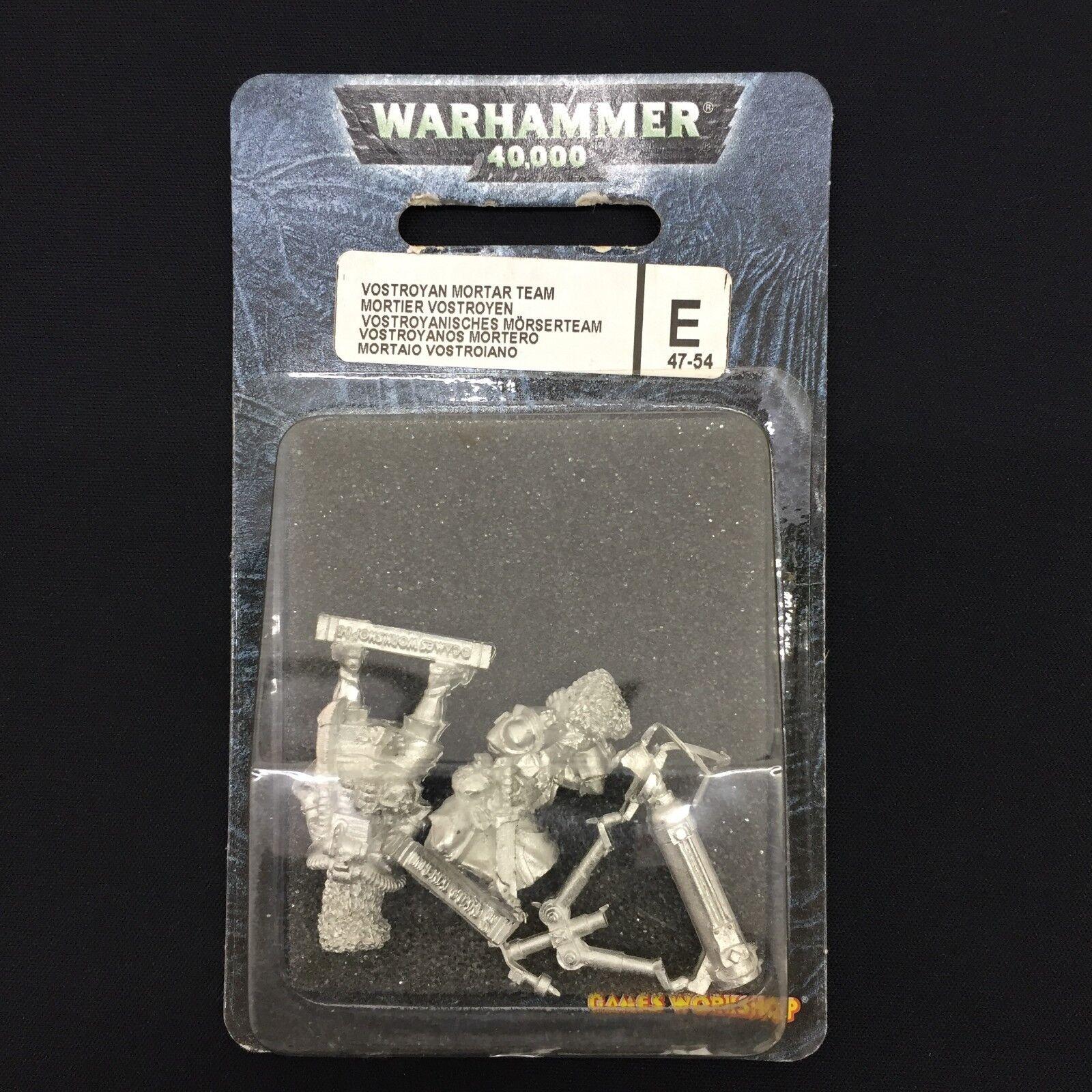 Warhammer 40.000 vostroyan mortar team blister metall - imperialen garde