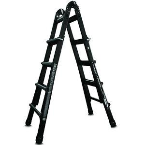 Little Giant 17 Foot Folding Multi Position Aluminum Ladder Extra Heavy Duty