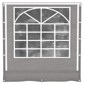 Partyzelt Seitenwand Mit Fenster Grau Ersatz Pvc 3x4 8x12