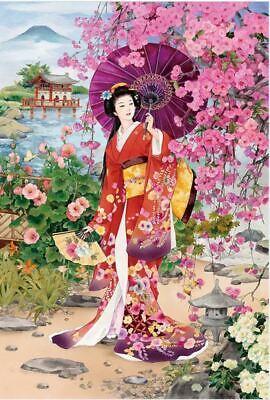 NEW Japanese Japan Geisha Female 1000Pcs Wooden Wood Puzzle Jigsaw Assembly Toy