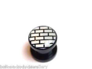 Aufschraubbar Brick Muster Plug / Ohr Dehner - 4 Größen Feine Verarbeitung
