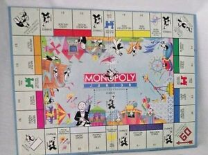 Monopoly-Junior-Jr-Replacement-Game-Board-Wall-Decor-1990-Amusement-Park