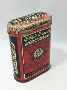 Vintage-NR-Nature-039-s-Remedy-Sixty-Tablet-Laxative-Empty-Tin-Lewis-Howe-Company