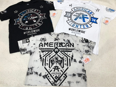 b AMERICAN FIGHTER Mens T-SHIRTS Buckle BKE Large L NWT $120 LOT of 3