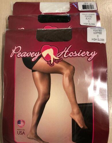 PEAVEY PANTYHOSE /& HIGH GLOSS NFL Hooters WingHouse Dance Hosiery Size A B C D Q