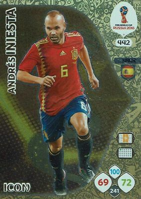 Panini Adrenalyn XL World Cup 2018 Russia WM nº 442 Icon Andres Iniesta Spain