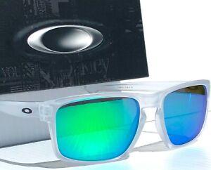 NEW-Oakley-SLIVER-Matte-Clear-w-POLARIZED-GALAXY-JADE-Sunglass-oo9262