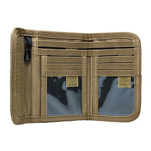 NcStar-CAWLT2983T-TAN-Law-Enforcement-Tactical-Military-Police-Bifold-Wallet