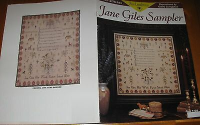 JANE GILES 1800 SAMPLER sampler cross stitch pattern