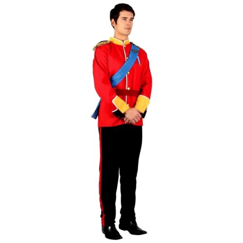 Adult DELUXE HANDSOME PRINCE Charming William Soldier Royal Regal Men Fancy Dres