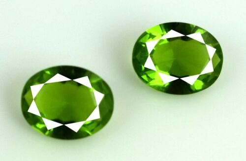 Brazilian Peridot Gemstone Pair 3.95 Ct Oval Natural AGSL Certified Gift Offer