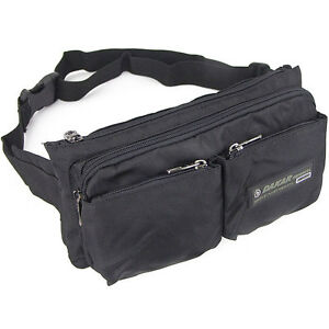 Trendy-men-039-s-durable-nylon-waist-bag-multi-pocket-great-quality-fanny-pack-black