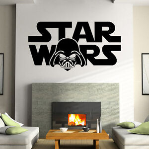 star wars wandtattoo spr che wohnzimmer wandsticker dekoration tattoo sticker ebay. Black Bedroom Furniture Sets. Home Design Ideas