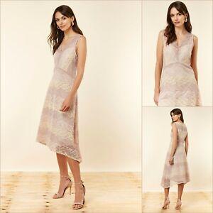 Wallis Fit Und Flare Kleid Größe 14   Blush Spitze   OVP   66 £ UVP   NEU!