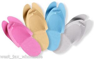775aaff6a677 Image is loading Disposable-Foam-Pedicure-Salon-Spa-Flip-Flop-Slippers-