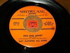 MAT MATHEWS ALL STARS - MILK AND HONEY - SHALOM/ LISTEN - EASY LISTENING POPCORN