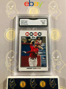 2008-Topps-Joey-Votto-319-Rookie-10-GEM-MINT-GMA-Graded-Baseball-Card