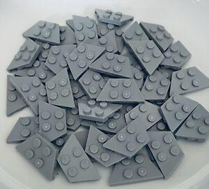 Bulk Lot of 50 Lego Plates 2x4  Dark Bluish Gray Part 3020