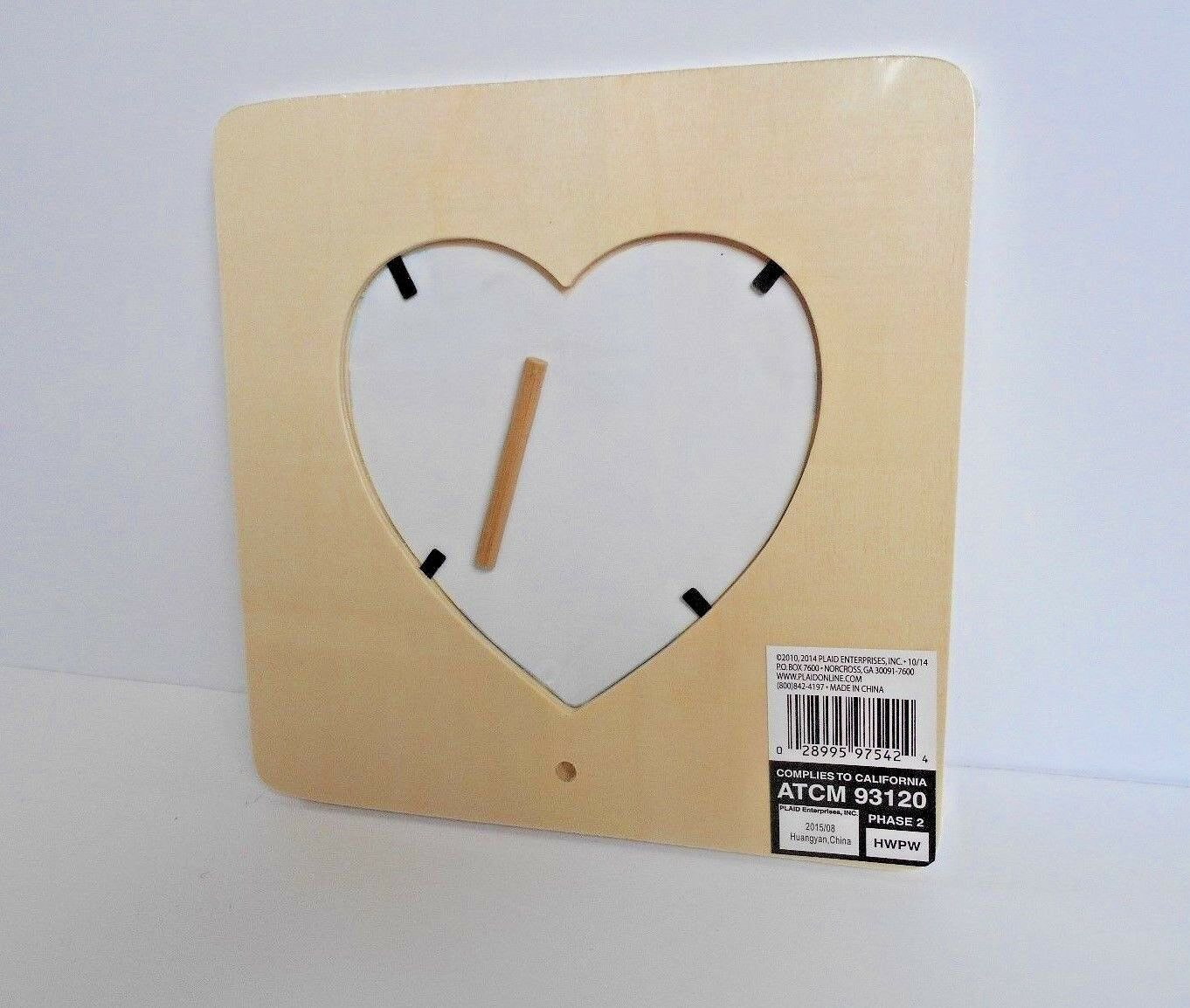 Unfinished Wooden Heart Picture Frame Paintable to Stain Decorate ...