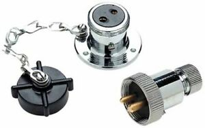 Boat heavy duty 12V DC deck connector socket plug power outlet crome brass 10161