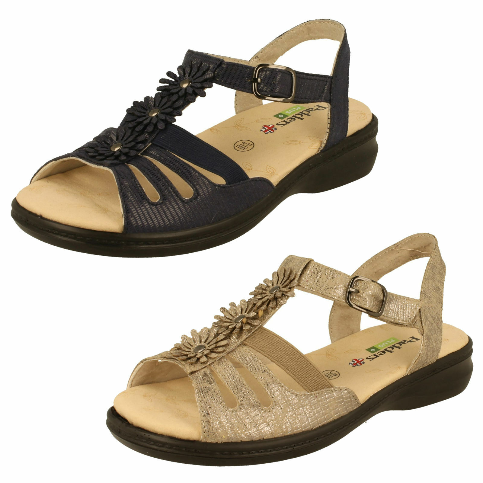 Último gran descuento Ladies Padders Extra Wide (EEE) Summer Sandals - Lizzy