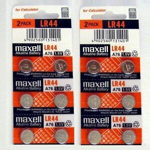 12-NEW-LR44-MAXELL-A76-L1154-AG13-357-SR44-303-BATTERY