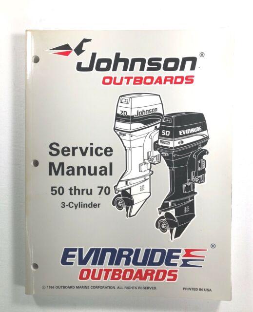 1997 Omc 50 60 65 70 Hp 3 Cyl Johnson Evinrude Service
