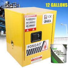12gallon Flammable Liquid Safety Locker 1door Manual Close Storage Can Fireproof
