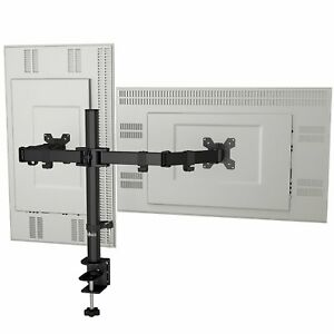 Adjustable-Desk-Dual-LCD-Monitor-Fits-Screens-up-to-27-034-for-HP-Dell-Lenovo