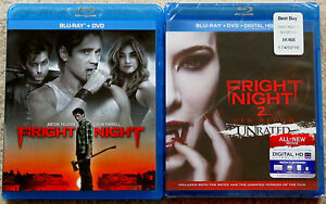 Horror-Blu-ray-DVD-Lot-Fright-Night-Used-Fright-Night-2-New-Blood-New