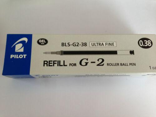 Refill Lenth 11cm 12 pcs x REFILLS for Pilot G-2 0.38mm roller ball pen