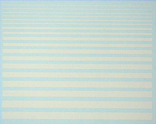 Zierstreifen Streifen weiß Friezes Strips white 1:43 Decal Abziehbilder