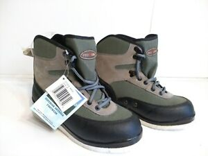 Pro-Line-Creek-Wading-Boots-Felt-Sole-Bottoms-Mens-Size-8-NuBuck-and-Nylon