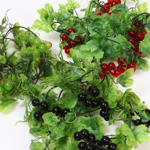 Artificial Grapevine Garland Green Floral Wedding Decoration Plastic